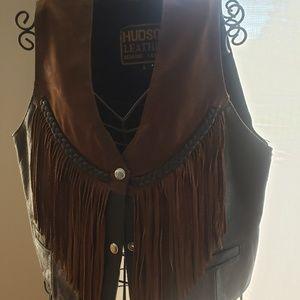 Leather vest size S